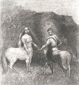 by-redon-centaur-man-with-a-centaur-woman