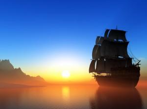 Sailboat in the sea.