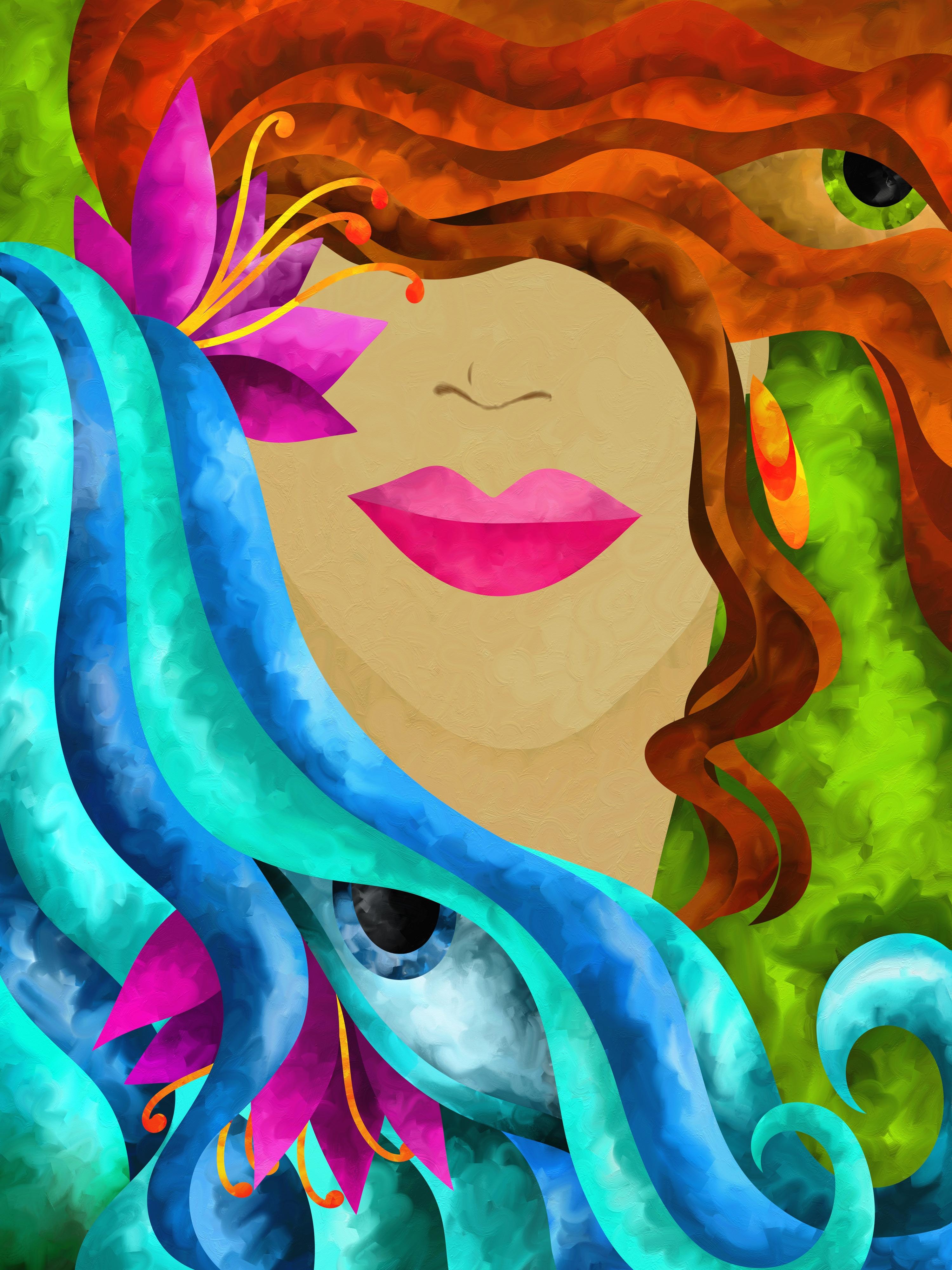 viso di donna con capelli color rame - Jessica Shepherd
